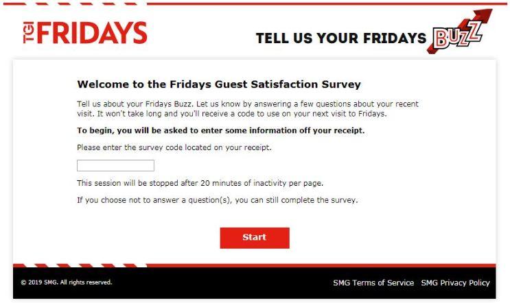 TGI Fridays Survey