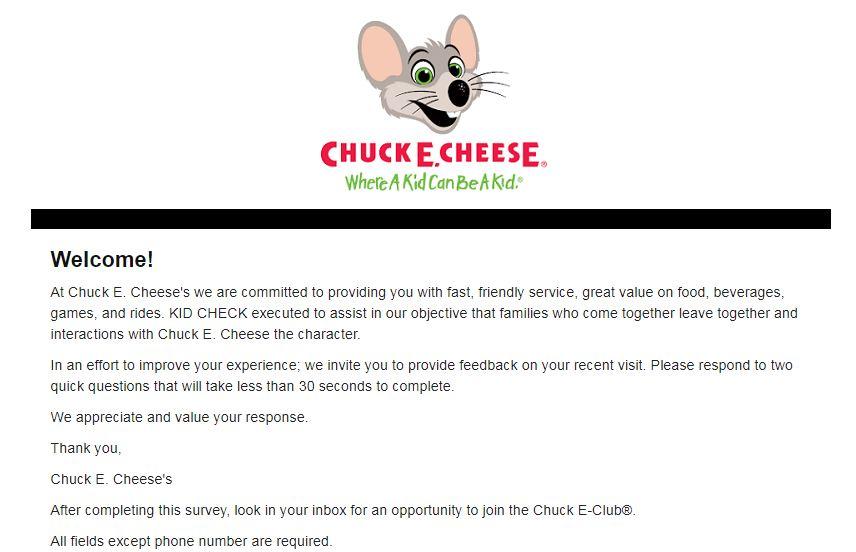 www.chuckecheese.com/feedback