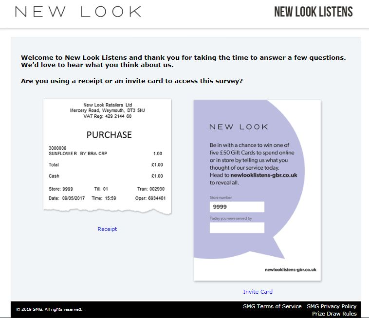 new look survey