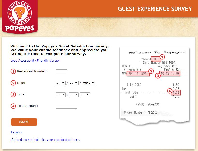 Tell Popeyes Survey