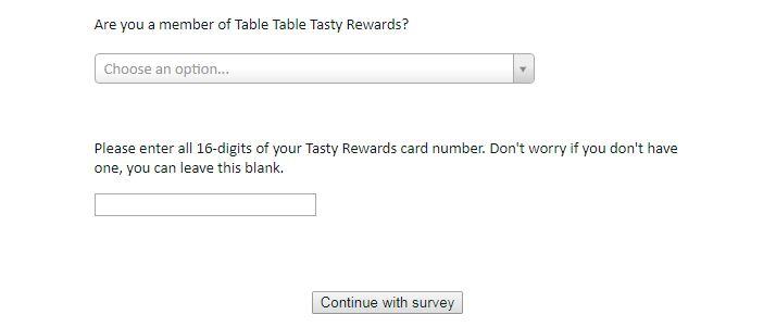 Table Table Feedback