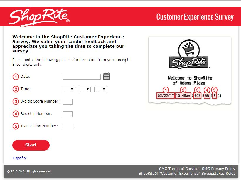 shoprite survey