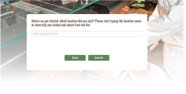 Crown Carveries Customer Feedback Survey