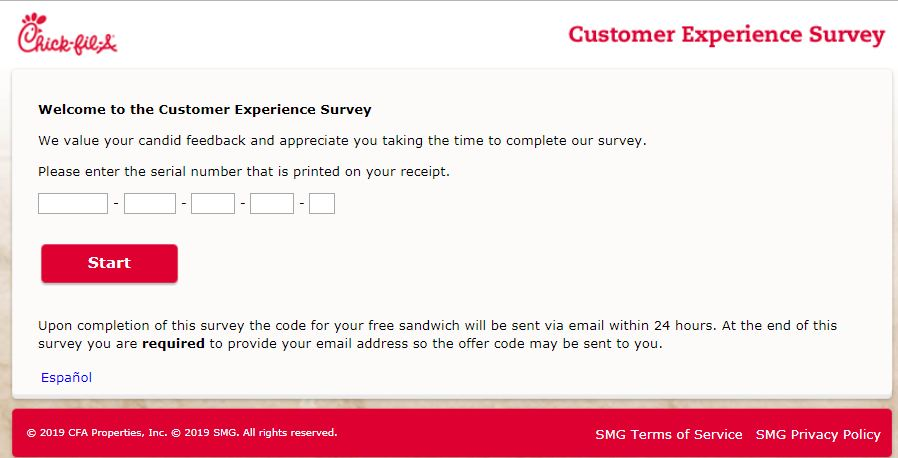 Chick Fil A survey