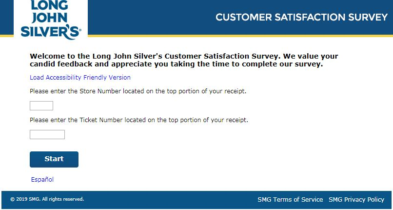 LONG JOHN SILVER SURVEY