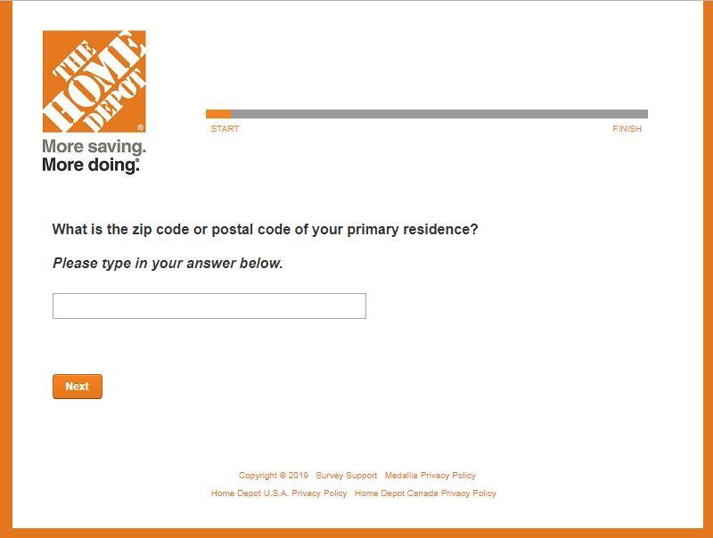 Home Depot Customer Opinion Survey