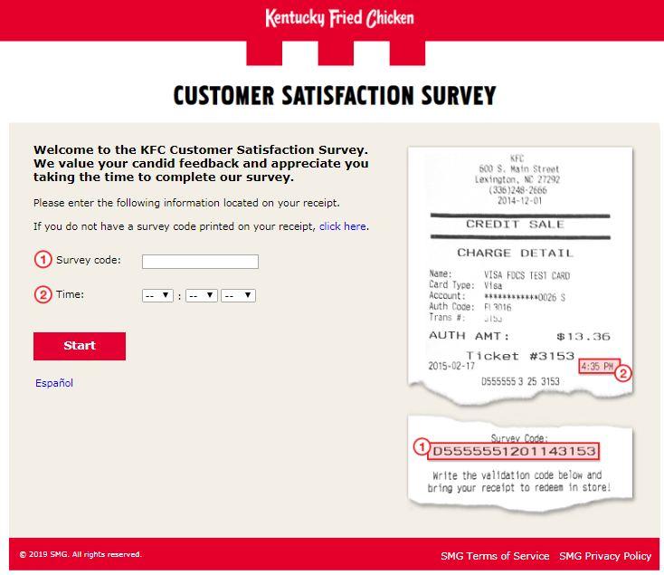 kfc survey