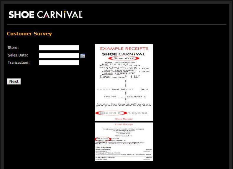 Shoe Carnival Guest Survey