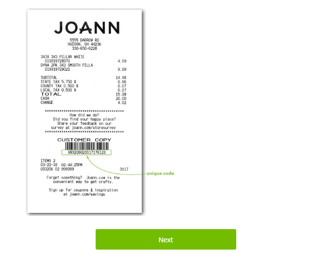 www.joann.com/storesurvey