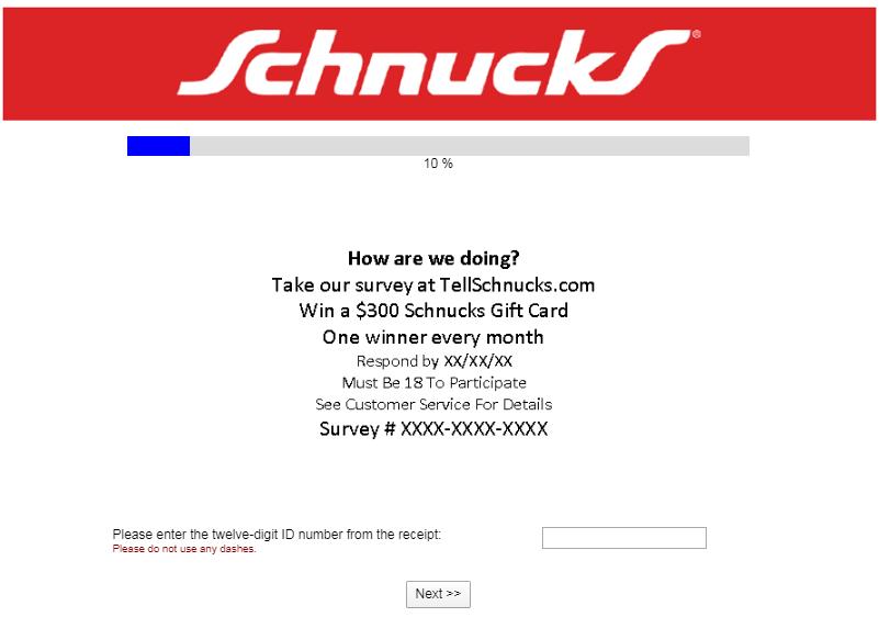 TellSchnucks Survey
