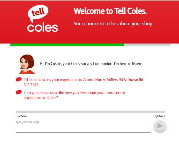 coles Australia survey