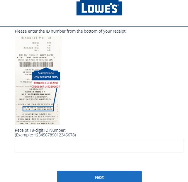 Lowe's Store Experience Survey