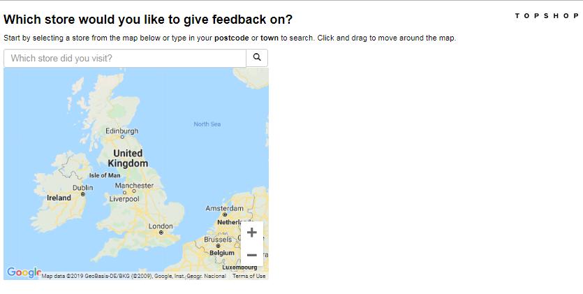 Topman Customer Feedback Survey