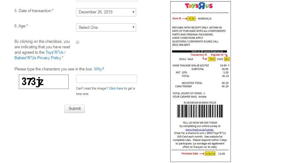 Toys R Us Customer Feedback Survey
