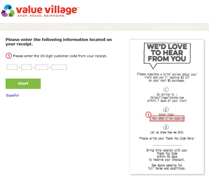 ValueVillageListenscom Survey