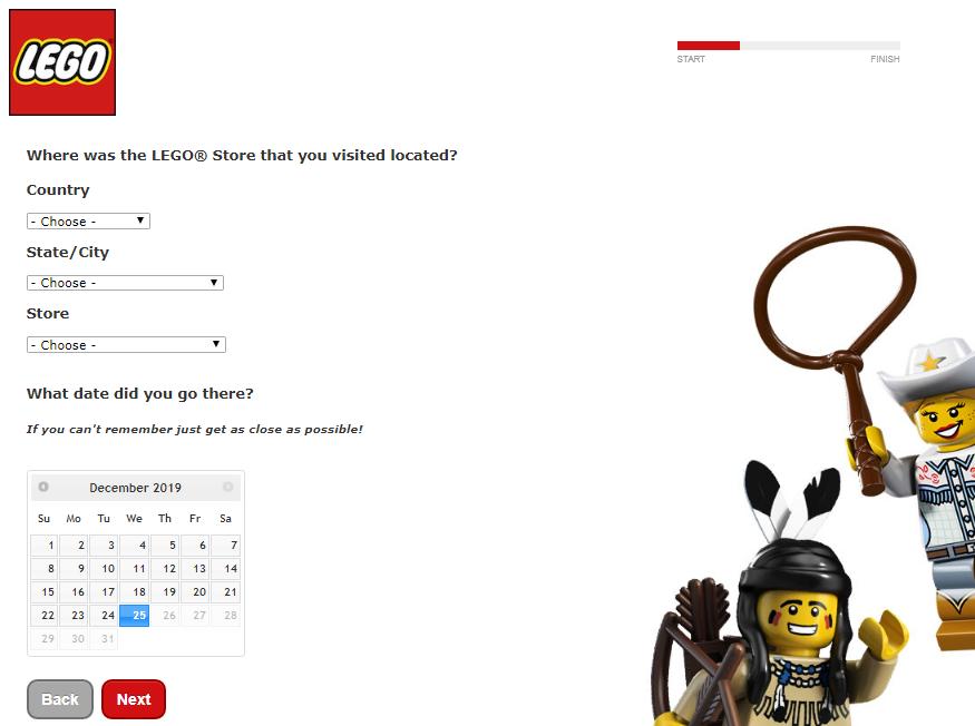 LEGO Store Customer Experience Survey