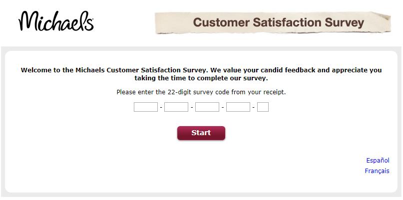 Michaels survey step1