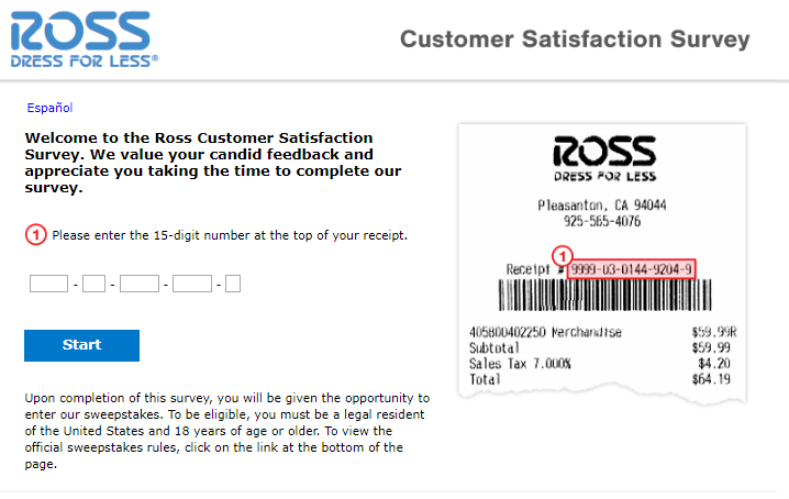 Ross survey step1