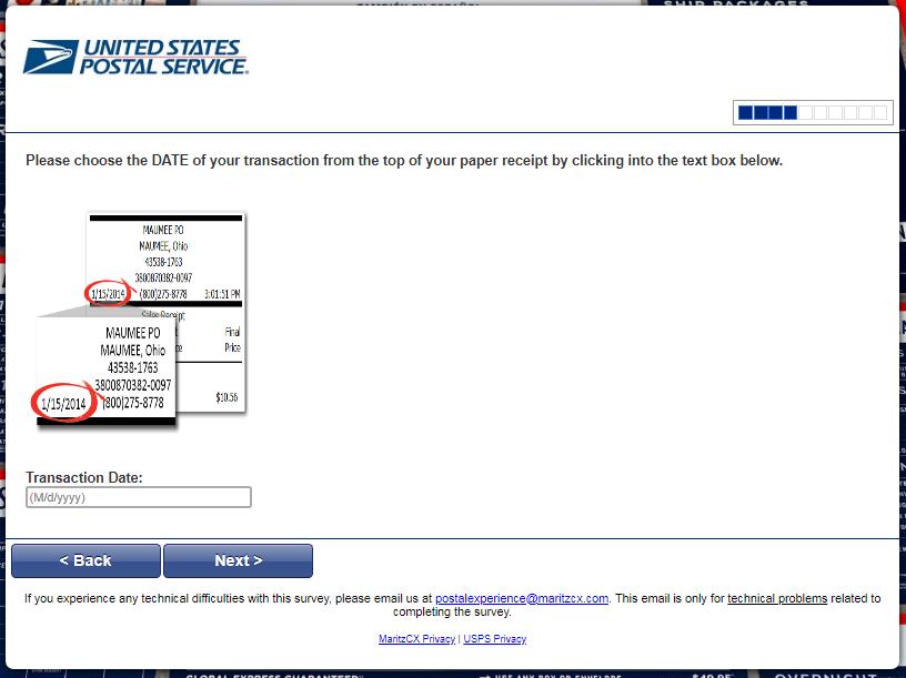 USPS survey step4