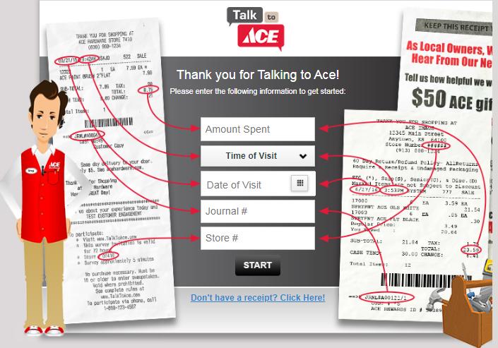 Ace Hardware Survey Step1