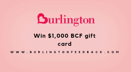 burlington survey reward