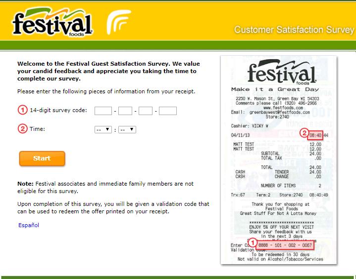festival foods survey step1