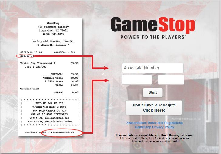 GameStop Opinion Survey