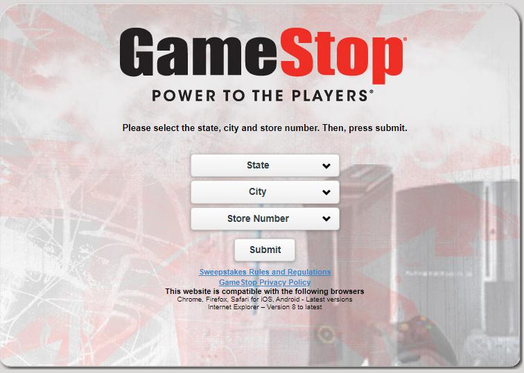 GameStop Customer Opinion Survey