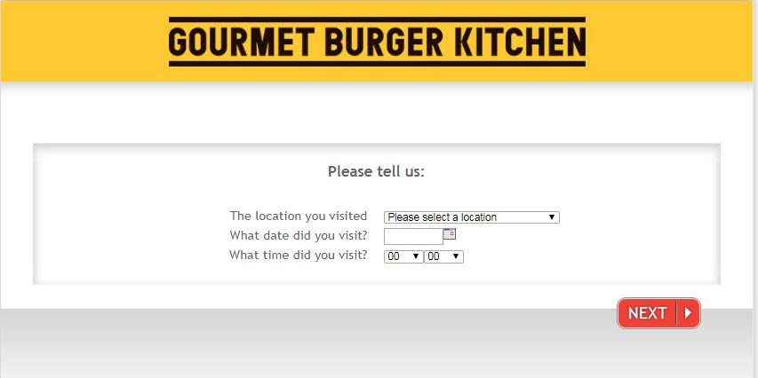 Gourmet Burger Kitchen Guest Satisfaction Survey