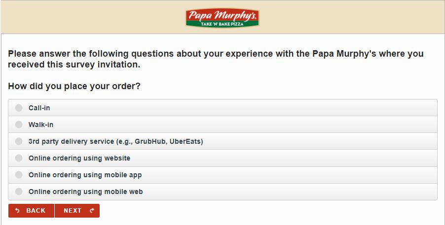 Papa Murphy's Customer Feedback Survey