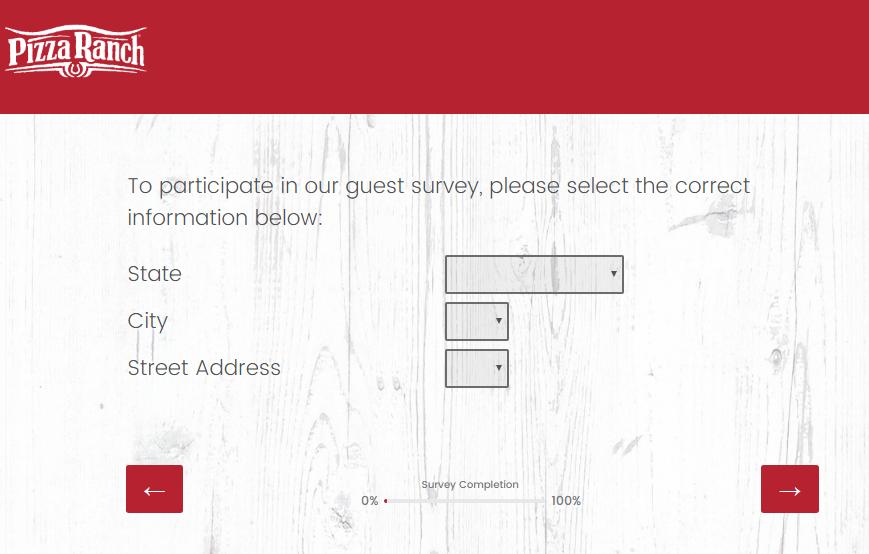Pizza Ranch Guest Satisfaction Survey