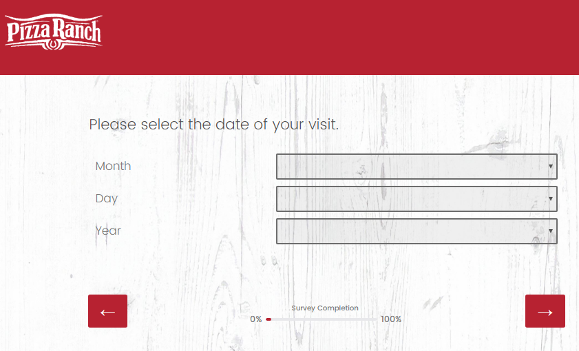 Pizza Ranch Customer Feedback Survey