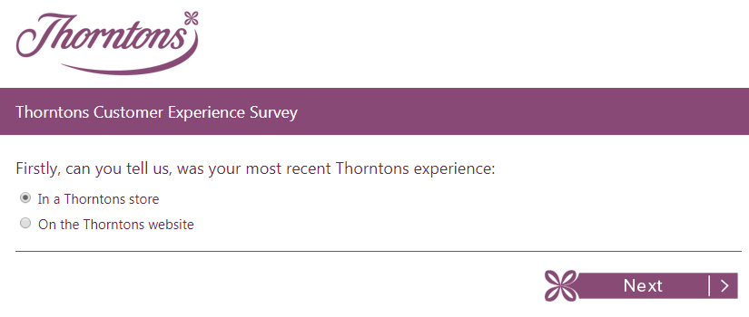 thorntons survey step2