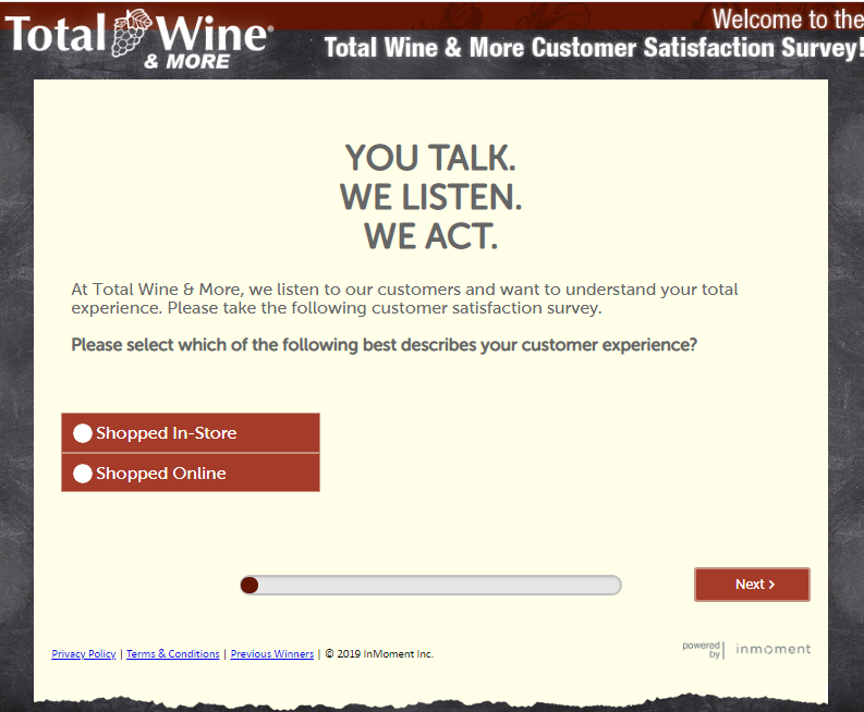www.Telltotalwine.com Survey