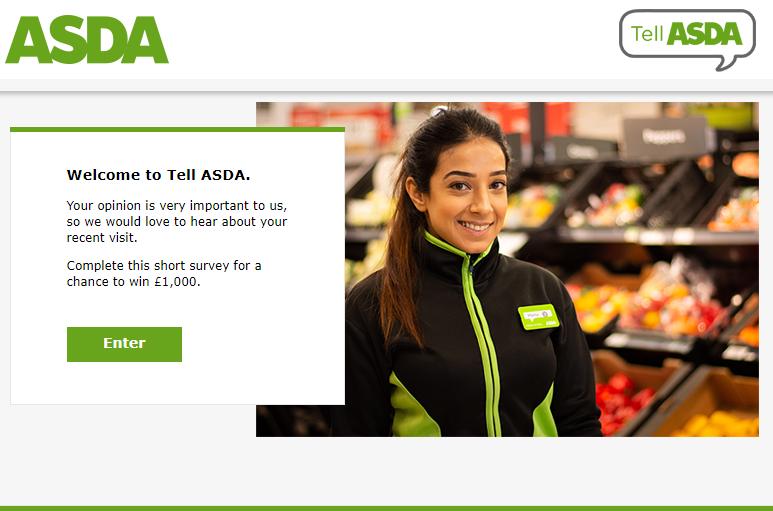 Asda Survey Homepage
