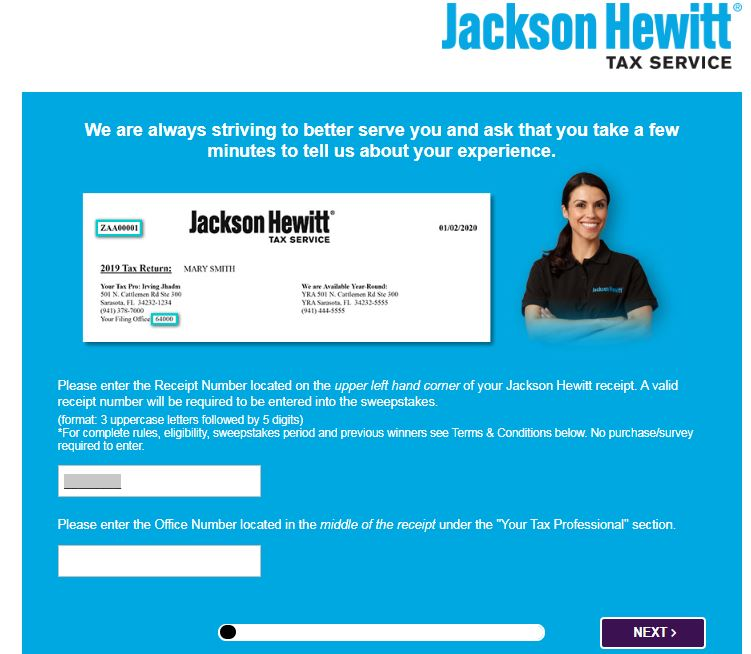 Tell Jackson Hewitt Survey