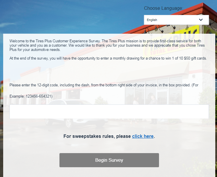 Tires Plus Survey Homepage