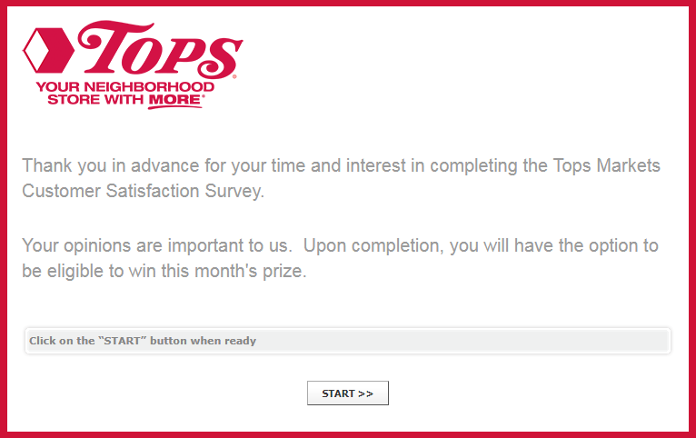 Tops Markets Survey Homepage