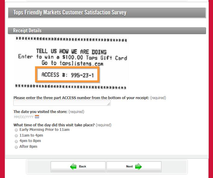 Tops MarketsCustomer Survey