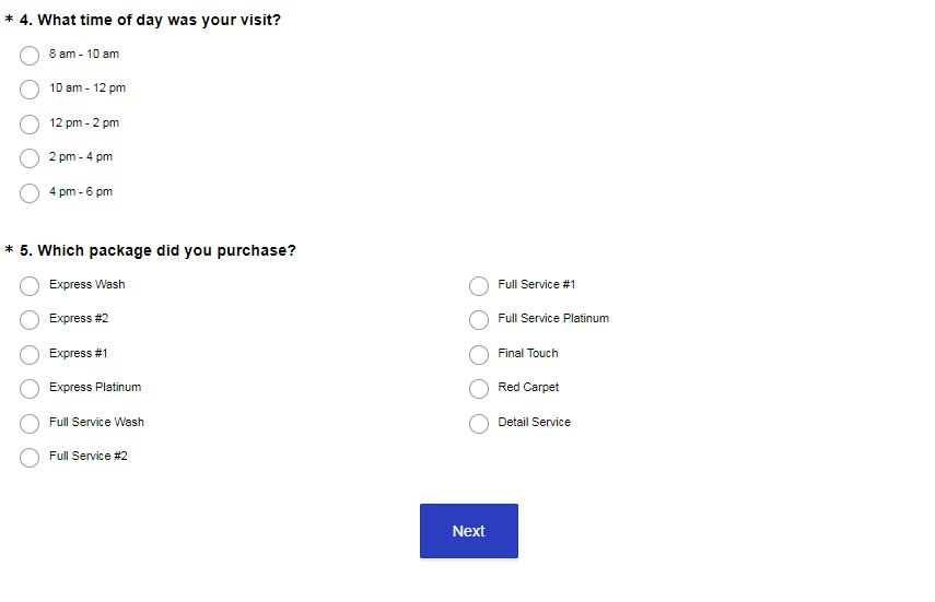 mistercarwash.com/survey