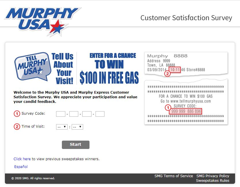 murphy USA Survey Homepage