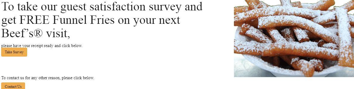 Beef o bradys survey homepage