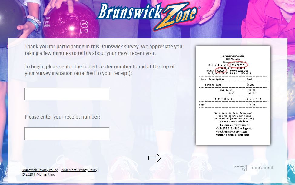 Brunswickzone survey homepage