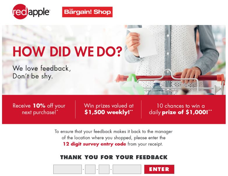 Red Apple Survey Homepage