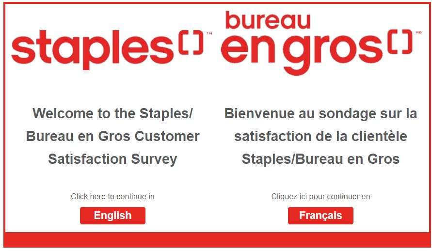 Staples Survey Homepage
