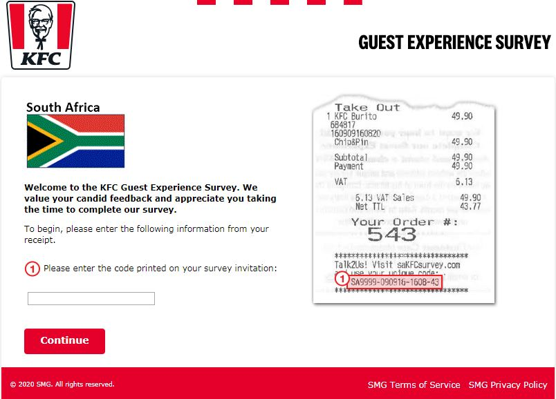 kfc south africa survey stp1