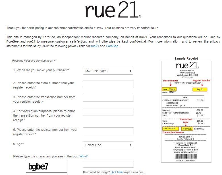 www.rue21survey.com