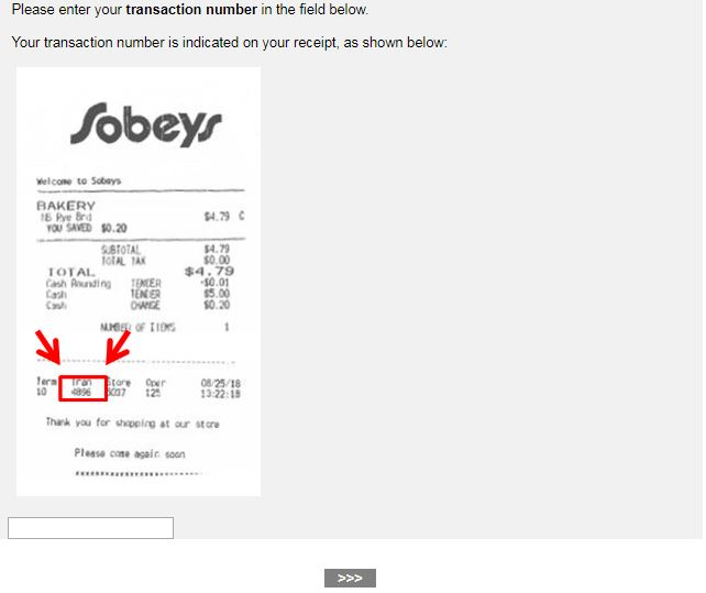 Sobeys Guest Opinion Survey