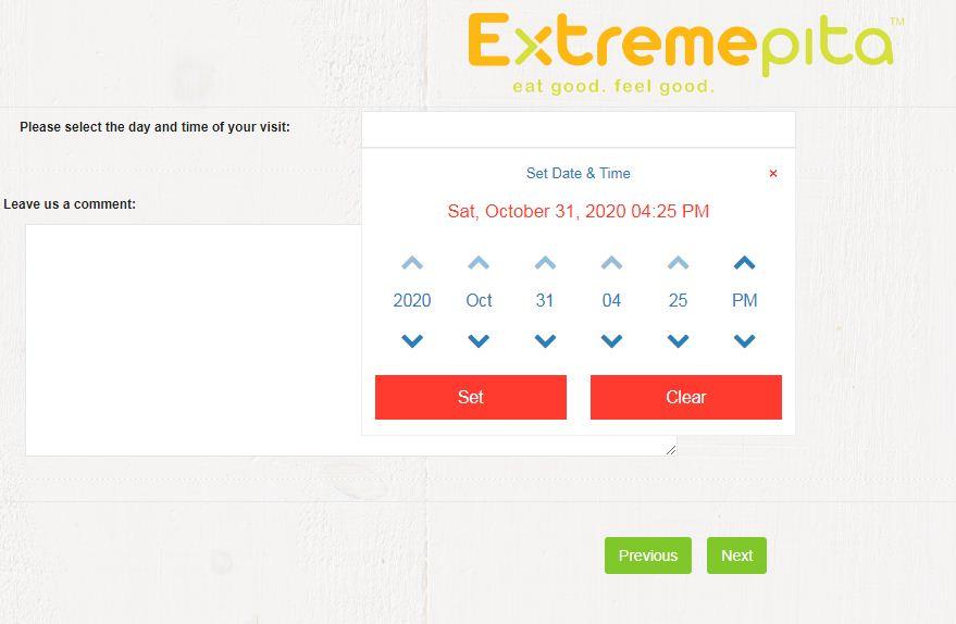 Extreme PitaConsumer Satisfaction Survey