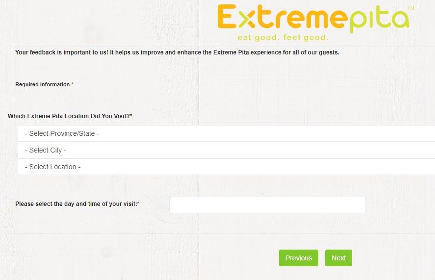 Extreme PitaCustomer OpinionSurvey
